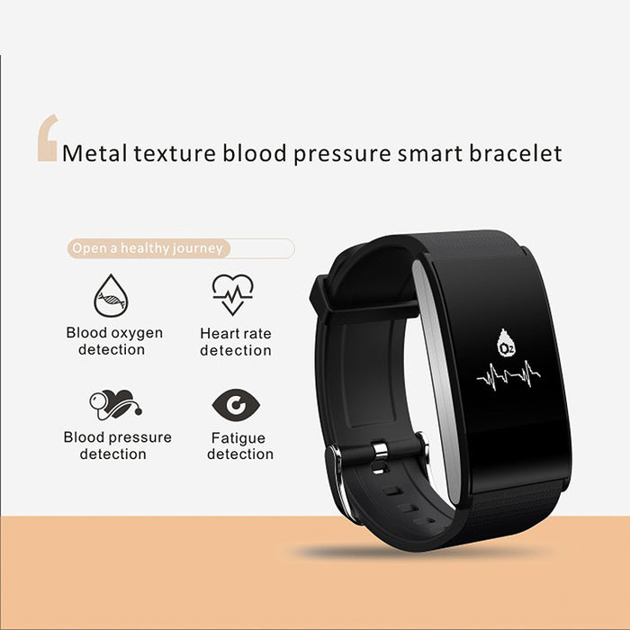 Ordro S12 Fitness Bracelet - Heart Rate,  Pedometer, Message Notification, Sleep Monitor, Call Reminder, Anti-Lost (White)