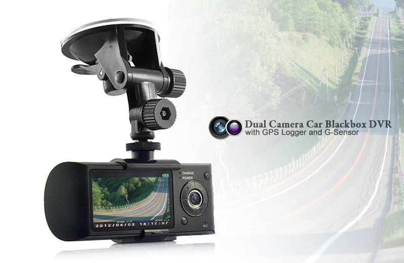 Dual Camera Car Blackbox DVR with GPS Logger and G-Sensor
