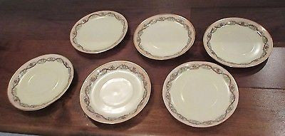 6 Victorian Antique Rosenthal Bavaria Donatello  Demitasse Saucers