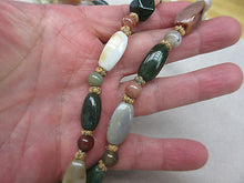HUGE Antique Chinese export Bead Mixed Blood Stone,AGATE,Carnelian Necklace 48""