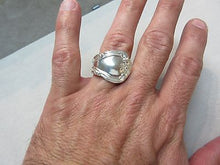 Antique Gorham Chantilly Pat. 1895 Heavy Solid Sterling Silver Spoon Mens Ring