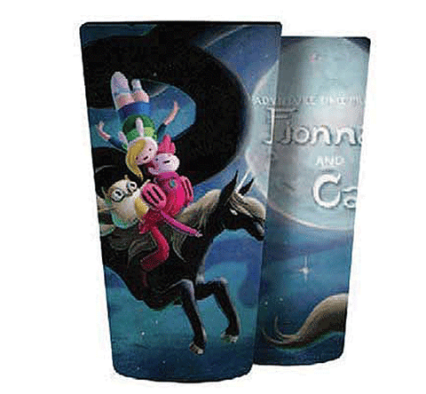 Adventure Time Fionna and Cake at Night Pint Glass