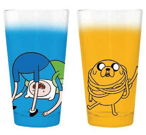 Adventure Time Jake Wrap and Finn Roll Pint Glass Set