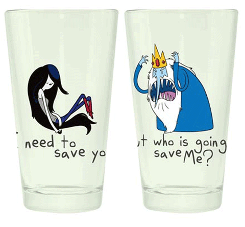 Adventure Time Marceline and Ice King Pint Set
