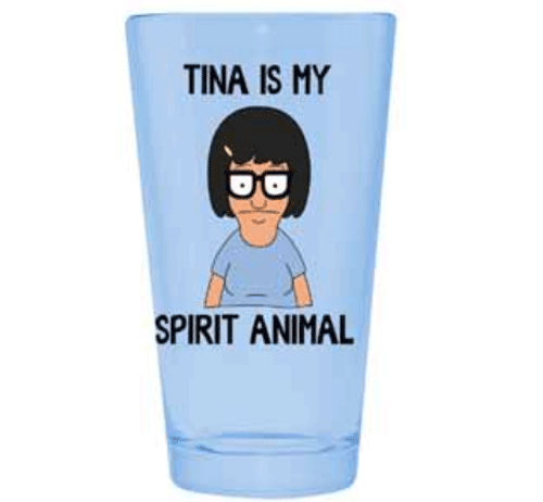 Bob's Burgers 'Tina is my Spirit Animal' Pint Glass