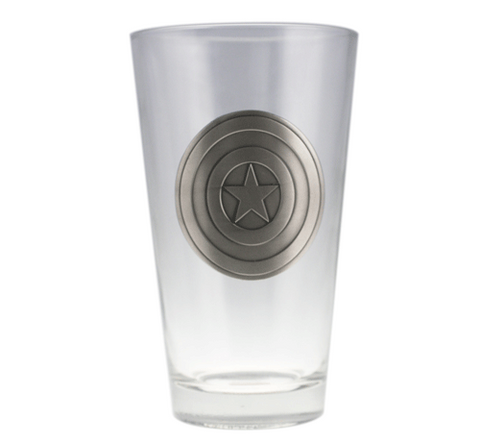 Captain America Emblem Beer Glass