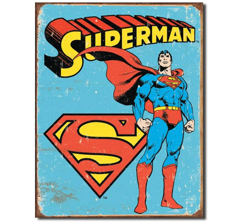 1950s Superman Retro Tin Sign