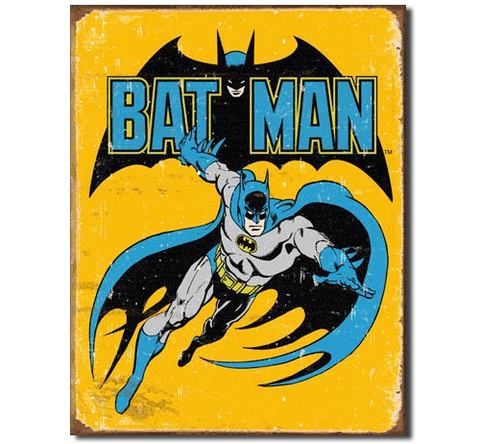 1970s Classic Batman Retro Tin Sign