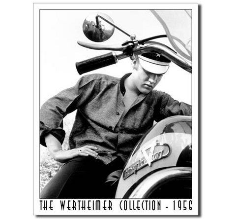 Elvis on bike - Wertheimer Collection Tin Sign