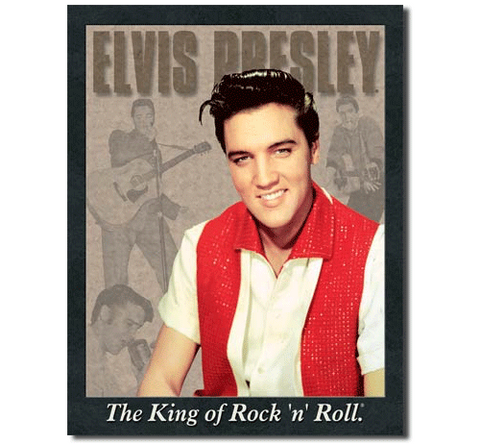 Elvis Presley Portrait Tin Sign