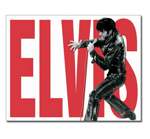 Elvis Presley All Leather Tin Sign