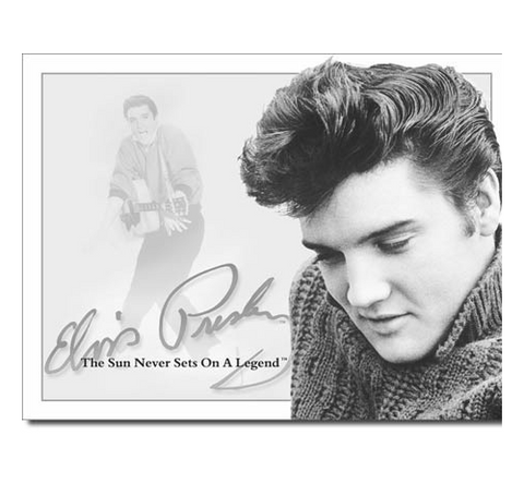 Elvis Presley Sun Never Sets Tin Sign