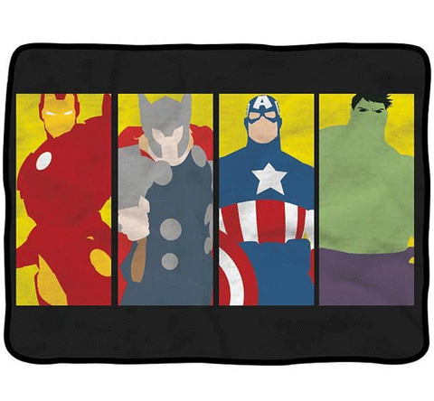 Avengers Minimalist Art Fleece Throw Blanket
