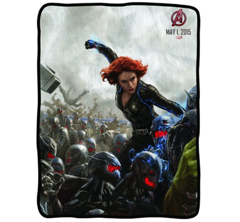 Avenger's Black Widow Fleece Blanket
