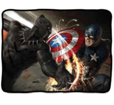 Captain America vs. Black Panther Fleece Blanket