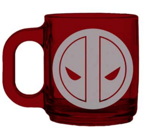 Deadpool Logo Glass Mug