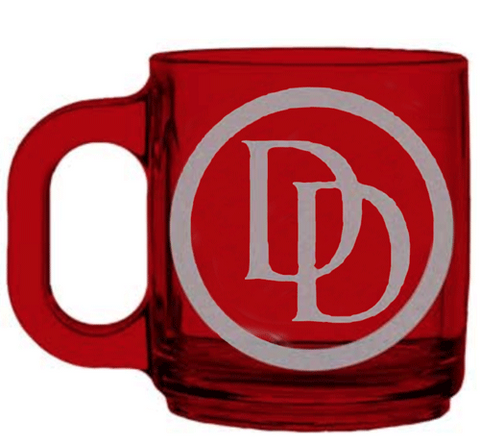 Daredevil Logo Glass Mug