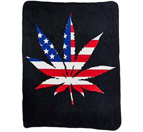 Weed Symbol Fleece Blanket