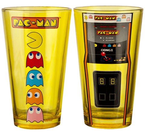 Pac-Man Arcade Game and Characters Pint 2-Pack