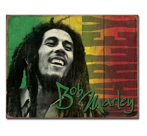 Bob Marley Signature Tin Sign