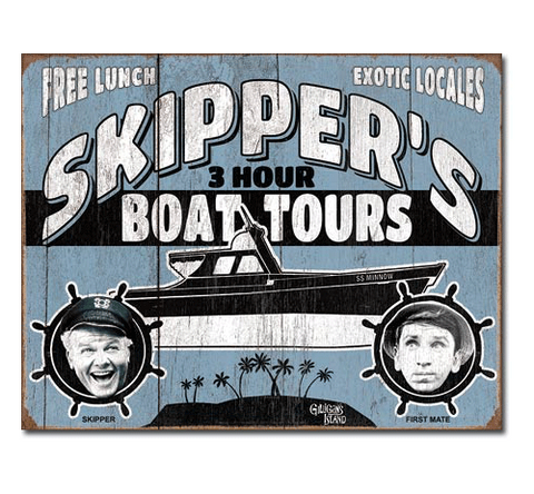 Gilligan's Island: Skipper's 3-Hour Tours Tin Sign