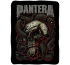 Pantera Snakes and Skull Fleece Blanket