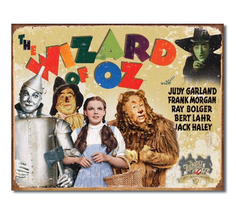 Wizard of Oz: 70th Anniversary Tin Sign