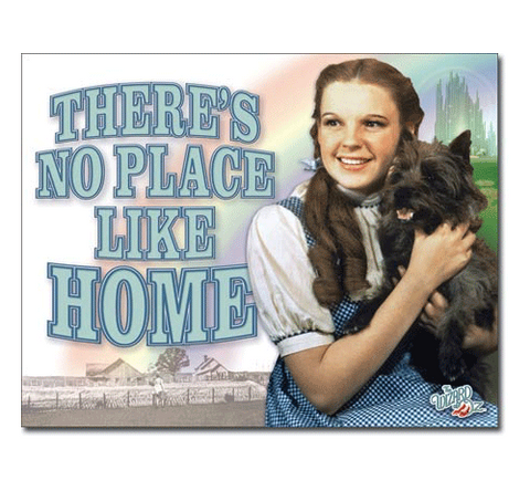 Wizard of Oz: No Place Like Home Tin Sign