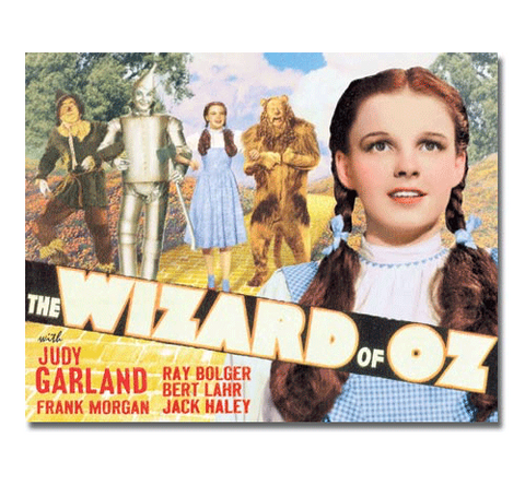 Wizard of OZ - Yellow Brick Road Tin Sign