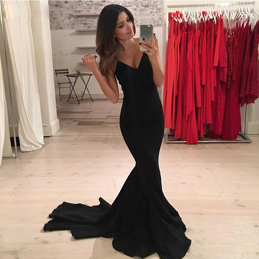 Black Mermaid Prom Dress, Prom Dresses, Graduation Party Dresses ...