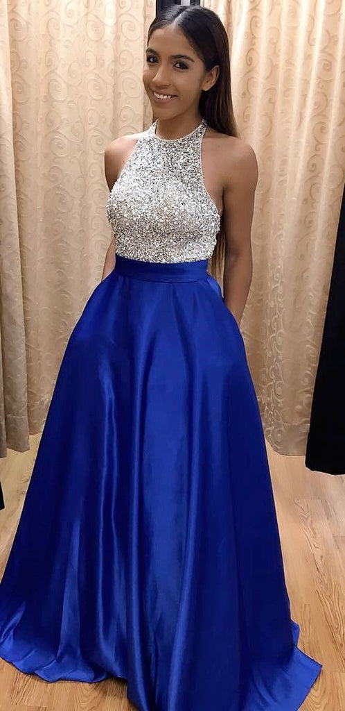 Royal Blue Prom Dress with Pockets, Back To School Dresses, Prom ...