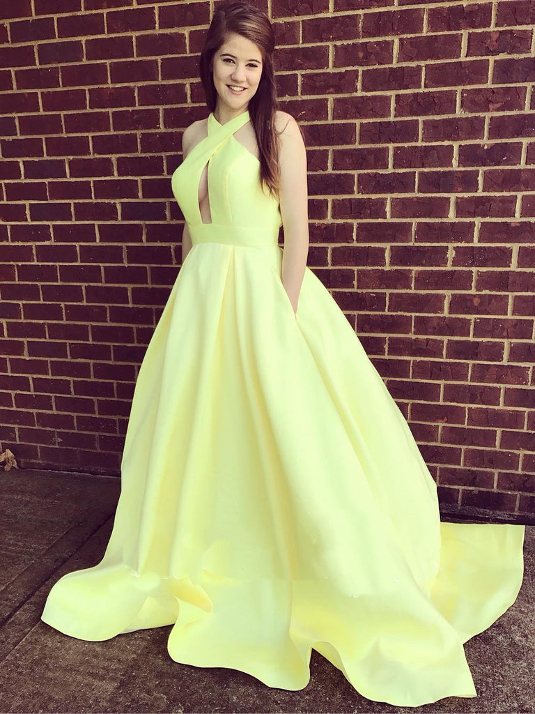 Yellow pageant dress