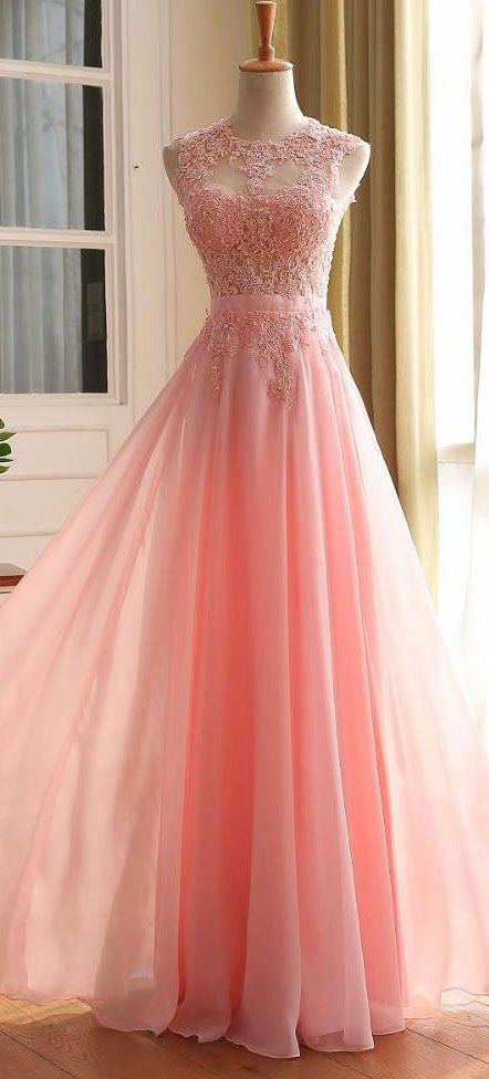 Fashionable Pink Prom Dress with Heart Shape Back, Prom Dresses ...