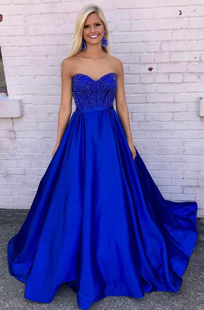 Royal Blue Prom Dress, Back To School Dresses, Prom Dresses For ...