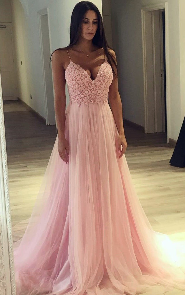 2018 Prom Dress With Thin Straps Back To School Dresses Prom