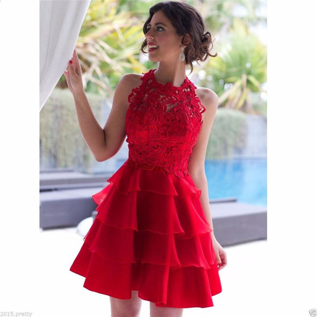 ba737ce2dc55 Red Homecoming Dress, Back To School Dresses ,Short Prom Dress For Teens  BPD0467