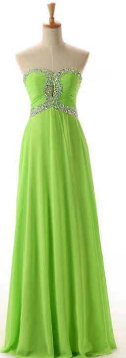 Green Color Prom Dress Graduation Party Dresses Formal Dress For