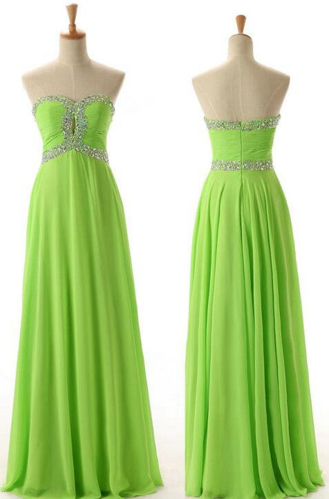 Green Color Prom Dress Graduation Party Dresses Formal Dress For ...