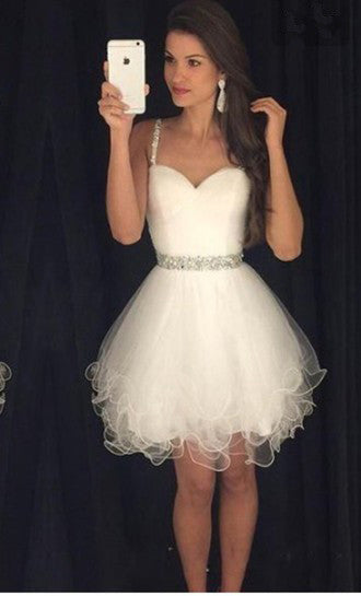 pretty cool pretty and colorful attractive & durable White Homecoming Dress 2017, Short Prom Dress, Graduation Party Dresses,  Formal Dress For Teens, BPD0328