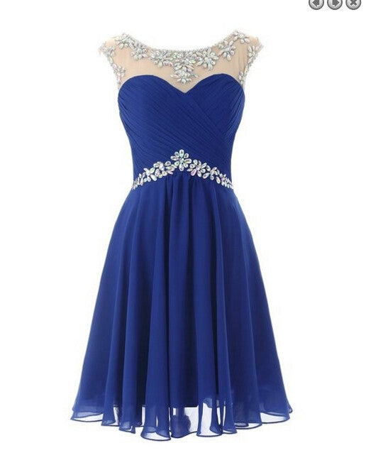 new products unique design cheap for discount Royal Blue Homecoming Dress 2017, Short Prom Dress, Graduation Party  Dresses, Formal Dress For Teens, BPD0329