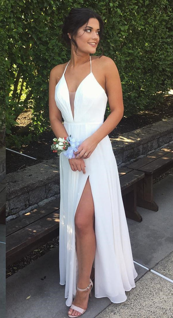 Simple White Wedding Dress, Prom Dress, Back To School Dresses, Prom ...