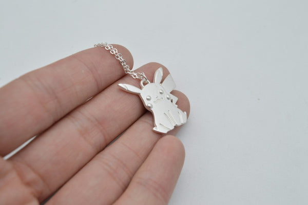 Pokemon | Necklace | Classic White Pikachu Style * Special Edition *
