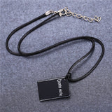 Death Note | Necklace | Death Note Black Book with Black Leather Style