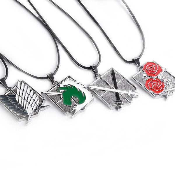 Attack on Titan | Necklace | Four Corps Logo ( S.L - T.S - M.P - S.G ) 5 Styles