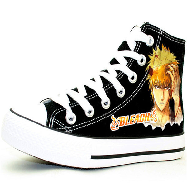 Bleach Shoes, High-Top Shoes, Canvas Style