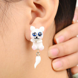 Handmade Polymer Little Dog Style Earrings