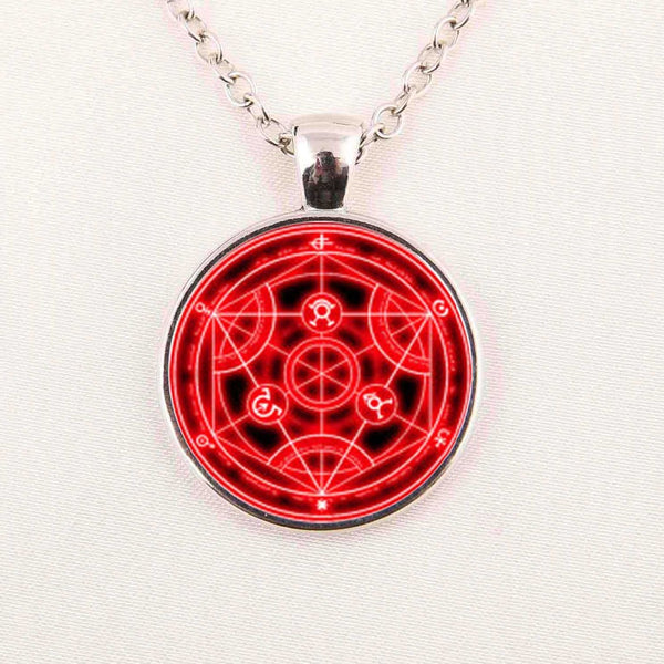 Full Metal Alchemist | Necklace | Transmutation Red Circle Style
