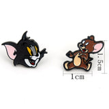 Cat and Mouse Style Earrings