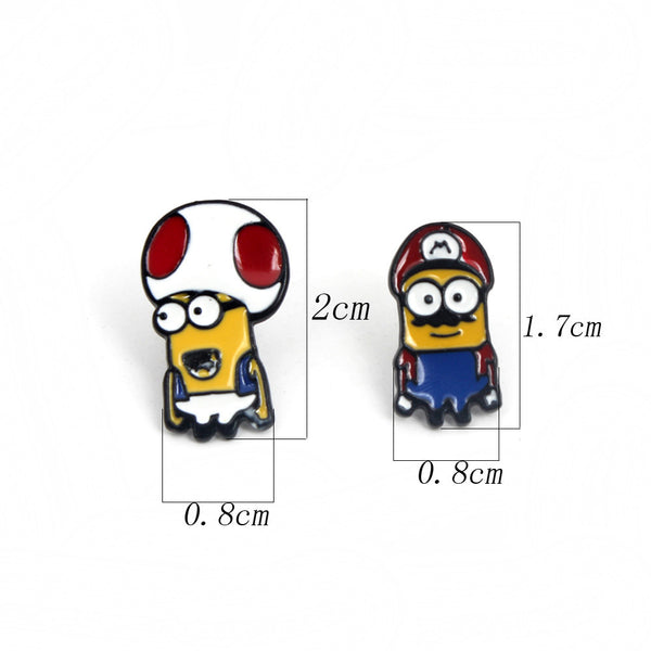 Mario and Minions Style Earrings Mix