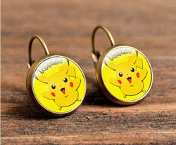 Pikachu Style Earrings Cute Design